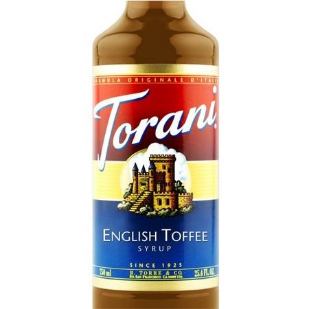 Torani English Toffee Syrup 750 mL Bottle