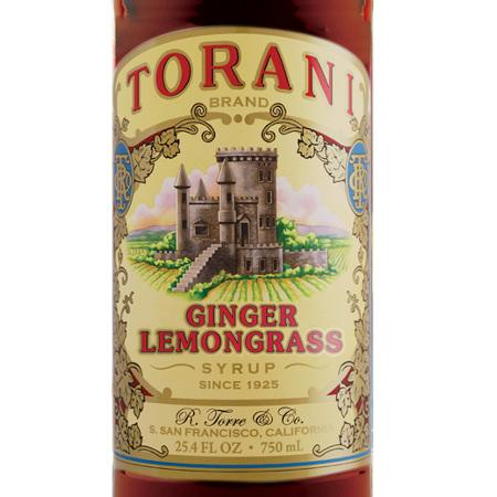 Torani Ginger Lemongrass Syrup 750 mL Bottle
