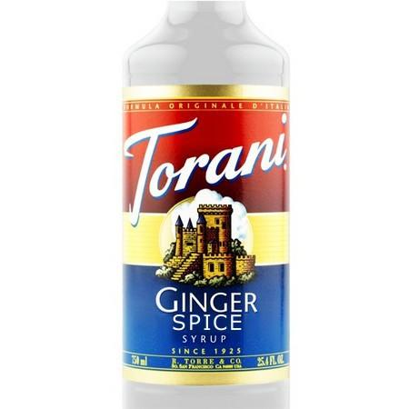 Torani Ginger Spice Syrup 750 mL Bottle