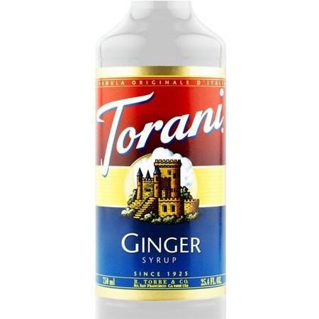 Torani Ginger Syrup 750 mL Bottle