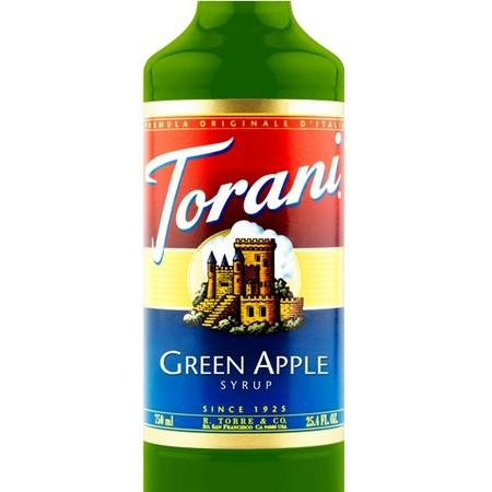 Torani Green Apple Syrup 750 mL Bottle