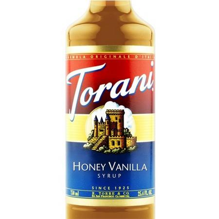 Torani Honey Vanilla Syrup 750 mL Bottle