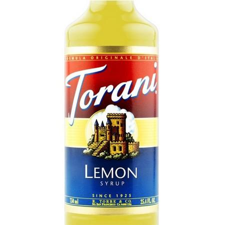 Torani Lemon Tea Syrup 750 mL Bottle