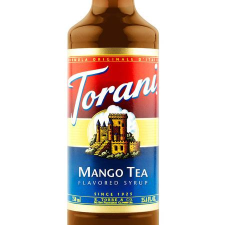 Torani Mango Tea Syrup 750 mL Bottle