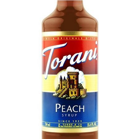 Torani Peach Syrup 750 mL Bottle