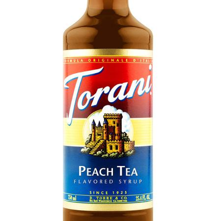 Torani Peach Tea Syrup 750 mL Bottle