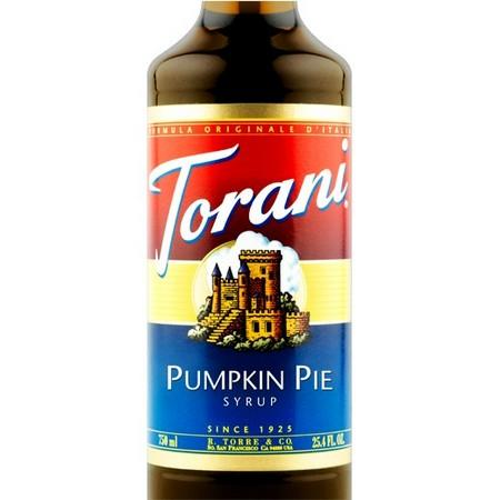 Torani Pumpkin Pie Syrup 750 mL Bottle