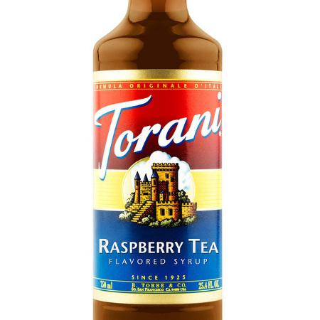 Torani Raspberry Tea Syrup 750 mL Bottle