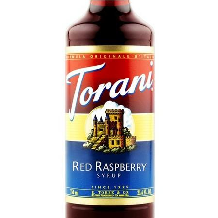Torani Red Raspberry Syrup 750 mL Bottle