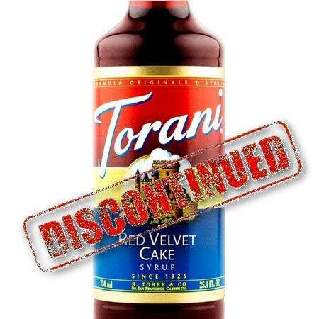 Torani Red Velvet Cake Syrup 750 mL Bottle