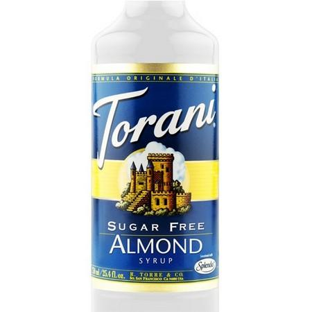 Torani Sugar Free Almond Syrup 750 mL Bottle