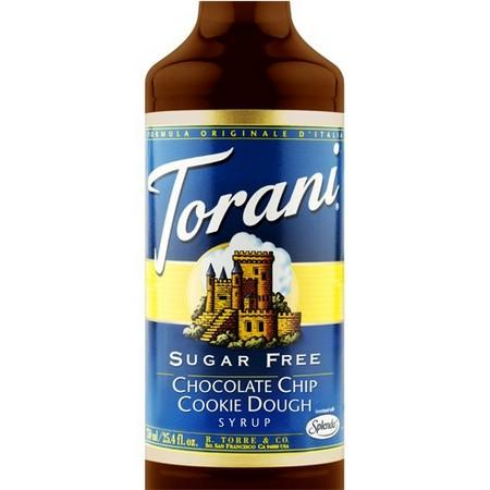 Torani Sugar Free Chocolate Chip Cookie Dough Syrup 750 mL Bottle