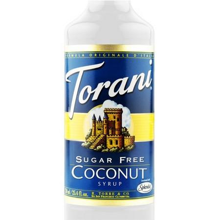 Torani Sugar Free Coconut Syrup 750 mL Bottle