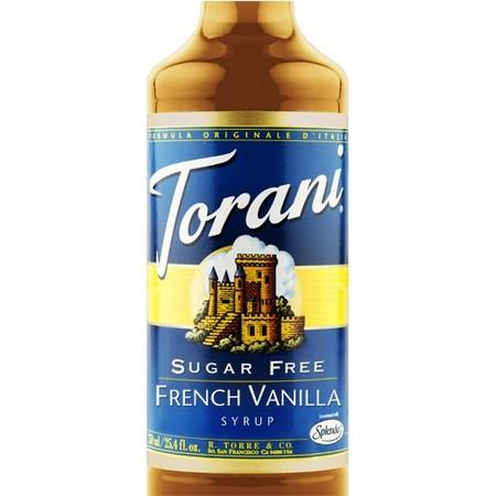 Torani Sugar Free Vanilla Syrup 750 mL Bottle