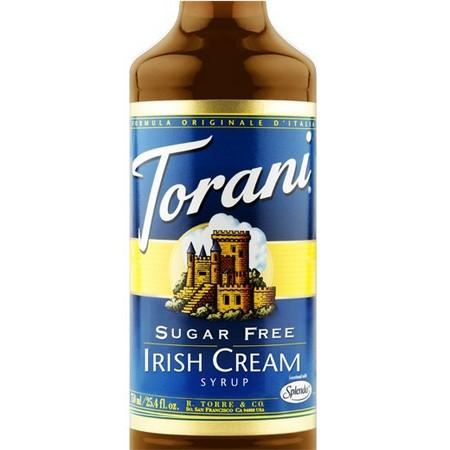 Torani Sugar Free Irish Cream Syrup 750 mL Bottle