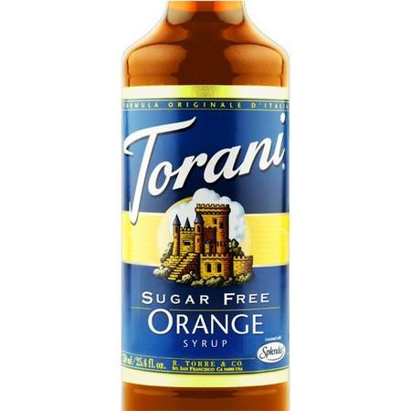 Torani Sugar Free Orange Syrup 750 mL Bottle