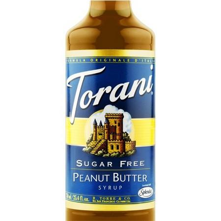 Torani Sugar Free Peanut Butter Syrup 750 mL Bottle