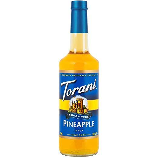 Torani Sugar Free Pineapple Syrup 750 mL Bottle