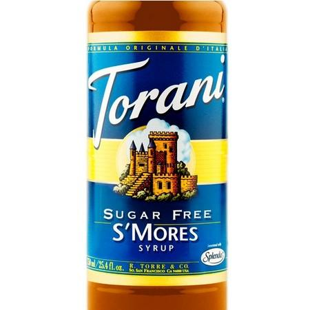 Torani Sugar Free Smores Syrup 750 mL Bottle
