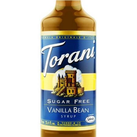 Torani Sugar Free White Chocolate Syrup 750 mL Bottle