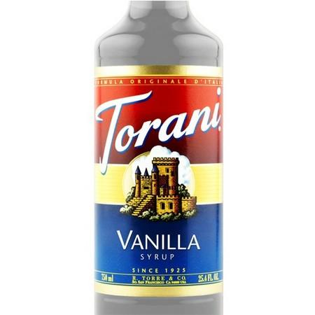 Torani Sugar Free Vanilla Bean Syrup 750 mL Bottle
