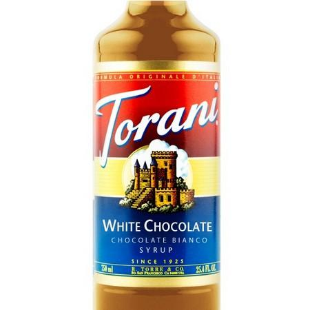 Torani Chocolate Bianco Syrup 750 mL Bottle
