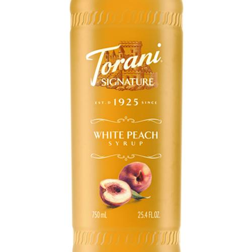 White Peach Signature Syrup 750 mL Bottle