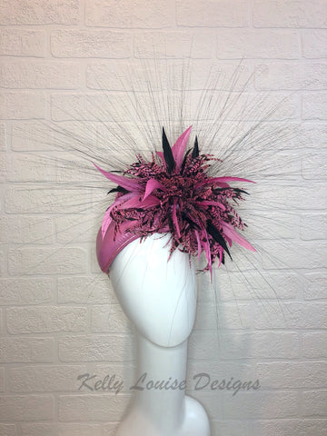 Pink Amherst Feather Burst
