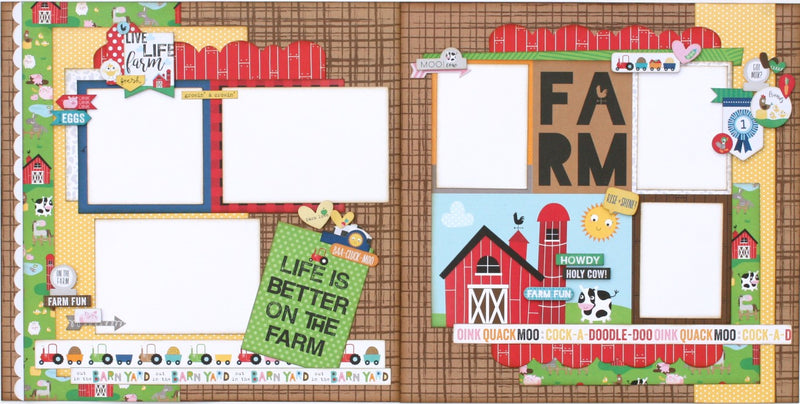 Farm, boy, outdoor scrapbook layout