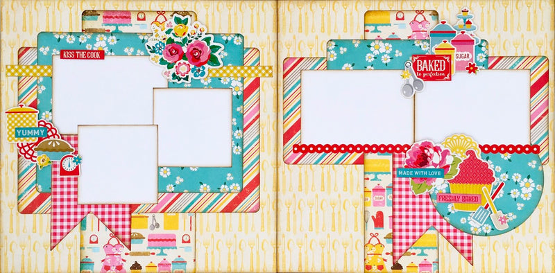 cooking, recipes, kitchen, scrapbook layout