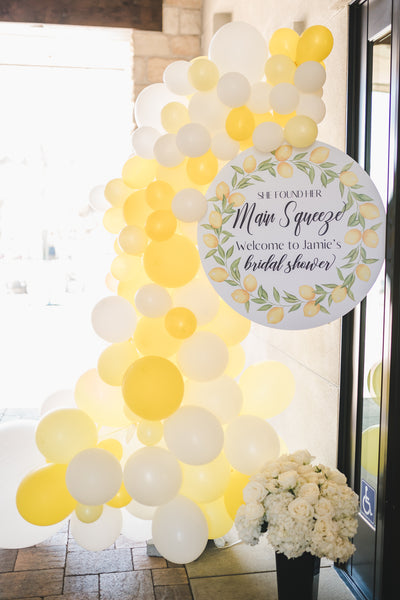 Lemon themed Balloon Garland, Lemon party balloons