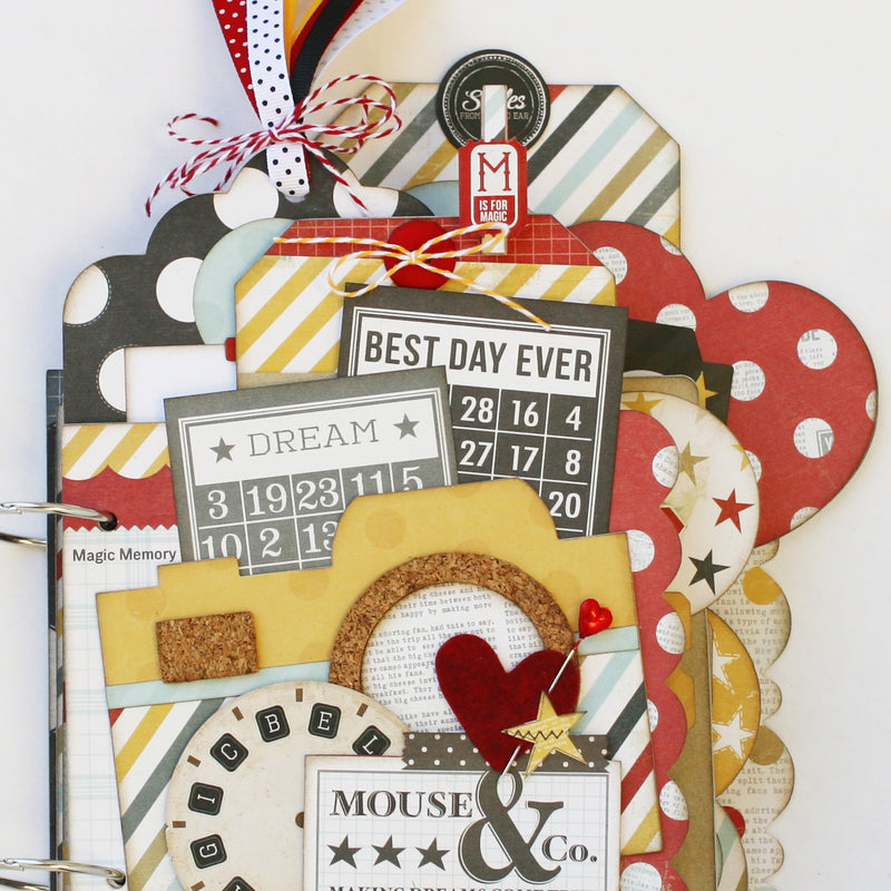 Disney themed scrapbook mini album; Disneyland, Disney World, Mickey Mouse, Disney themed party