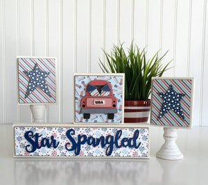 Magnetic Blocks with Monthly titles (calendar pieces sold separately) - Paisleys and Polka Dots