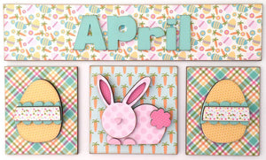 Magnetic Calendar Month-April (calendar sold separately) - Paisleys and Polka Dots