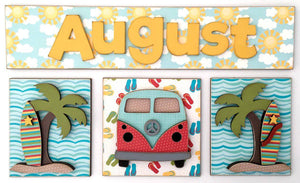 Magnetic Calendar Month-August (calendar sold separately) - Paisleys and Polka Dots