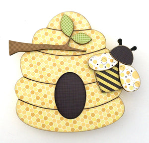 Bee Hive DIY Wood Decor Kit - Paisleys and Polka Dots