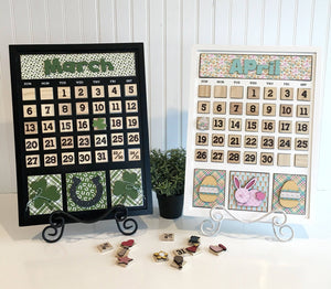 Magnetic Calendar Month-March (calendar sold separately) - Paisleys and Polka Dots
