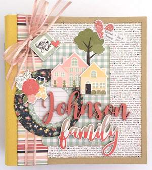 Our Family Album-with custom name option - Paisleys and Polka Dots