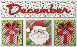 Magnetic Calendar Month-December (calendar sold separately) - Paisleys and Polka Dots