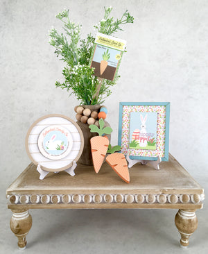 Easter signs for tiered tray decorations, small easter shiplap signs, easter plant stick, Easter wood decorations.