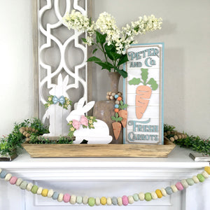 Standing Shiplap Bunny Wood Decor Kit