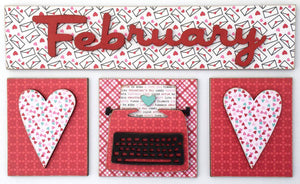 Magnetic Calendar Month-February (calendar sold separately) - Paisleys and Polka Dots
