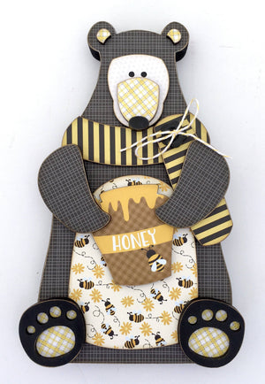 Honey Pot Bear DIY Wood Decor Kit - Paisleys and Polka Dots