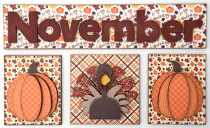 Magnetic Calendar Month-November (calendar sold separately) - Paisleys and Polka Dots