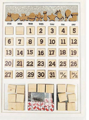Magnetic Calendar- White (individual months sold separately) - Paisleys and Polka Dots