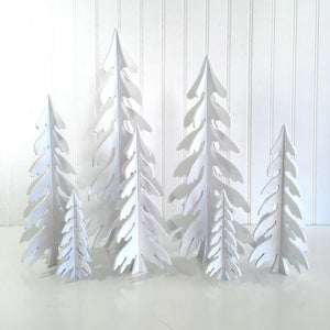 White wood Dimensional Christmas trees for fireplace, mantel, tables, or shelves. wood Christmas tree decoartions. Handmade christmas trees, holiday wood decor, christmas crafts, 3D Christmas trees, 3D Trees