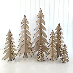 Wood Dimensional Christmas trees for fireplace, mantel, tables, or shelves.  wood Christmas tree decoartions.  Handmade christmas trees, holiday wood decor, christmas crafts, 3D Christmas trees, 3D Trees