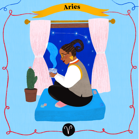 Aries illustration by Daniella Graner