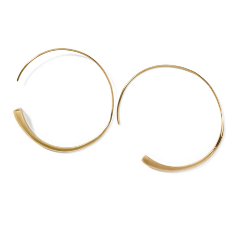 recycled brass hoops