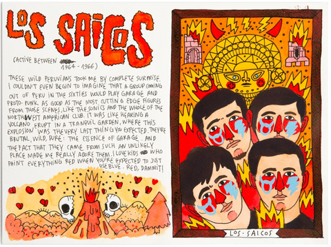 101 Artists to Listen to Before You Die - Los Saicos illustration by Ricardo Cavolo